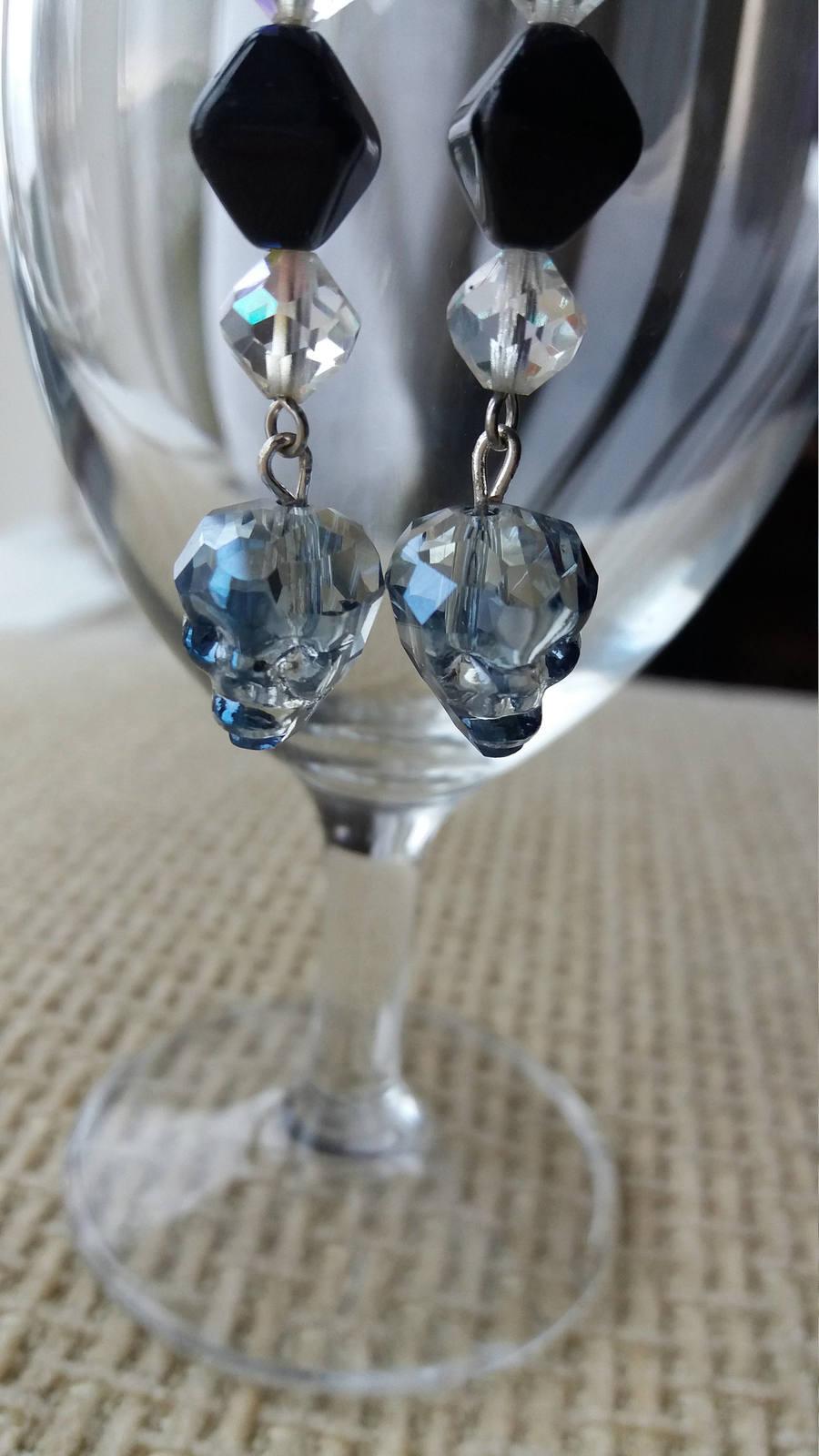 Swarovski crystal Skulls earrings Wedding jewelry Gift for her Crystal earrings