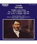 Spohr;Violin Concertos 7,12 [Audio CD] - $12.97