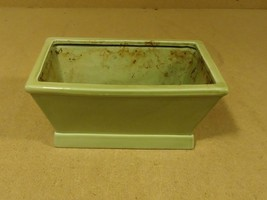 Handcrafted Colored Planter 10in x 7in x 4in Green Ceramic - $22.19