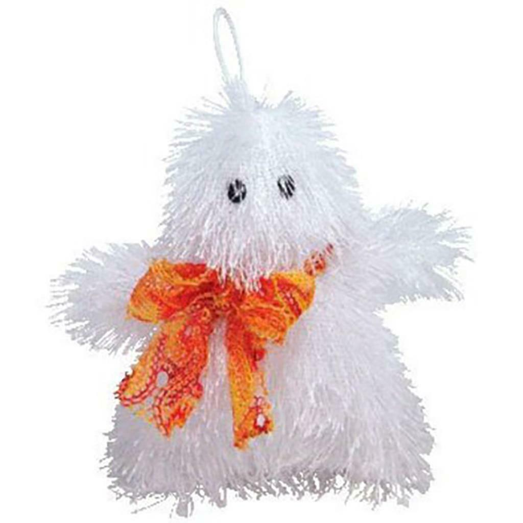 Ghosters the Shaggy White Ghost Ty Halloweenie Beanies Retired MWMT 2005