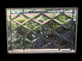 Size Adjustment (Tapp) Diamond Beveled Stained Glass Window - $137.61