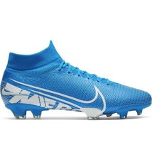 Nike Men Mercurial Superfly 360 VII 7 Pro FG Cleats Blue AT5382 414 Size 12 - $59.46