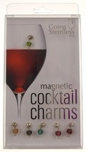 Going Stemless Cocktail Wine Charms Christmas Holiday Ornament Magnetic ... - $39.99