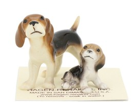 Hagen Renaker Miniature Dog Beagle and Puppy Ceramic Figurine Set