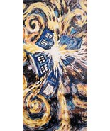 Doctor Who Van Gogh Exploding Tardis Terry Cloth 30 x 56 Beach / Bath To... - $19.34