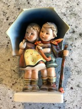 VTG GOEBEL M I Hummel STORMY WEATHER Boy & Girl Under Umbrella W Germany - $99.99