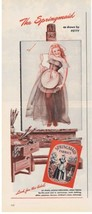 1946 Springmaid George PETTY GIRL Pin-up sexy Print Ad  - $9.99