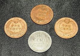 Indian Head Penny 1901, 1902, 1903 and 1943 D Steel Penny AA19-CNP6009 Antique image 9