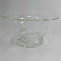 Murano Clear Glass Bowl wit Controled Bubbles - $32.71