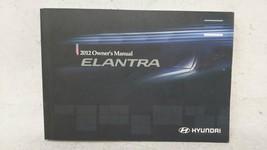2012 Hyundai Elantra Owners Manual Yellow 52443 - $20.59
