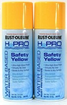 2 Rust-Oleum 12 Oz H2Pro 331549 Safety Yellow Water Based Rust Preventiv... - $16.99