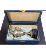 VTG Heiwa Nippon box Silver Plated Urn with wood stand Trophy Country Cl... - $222.75