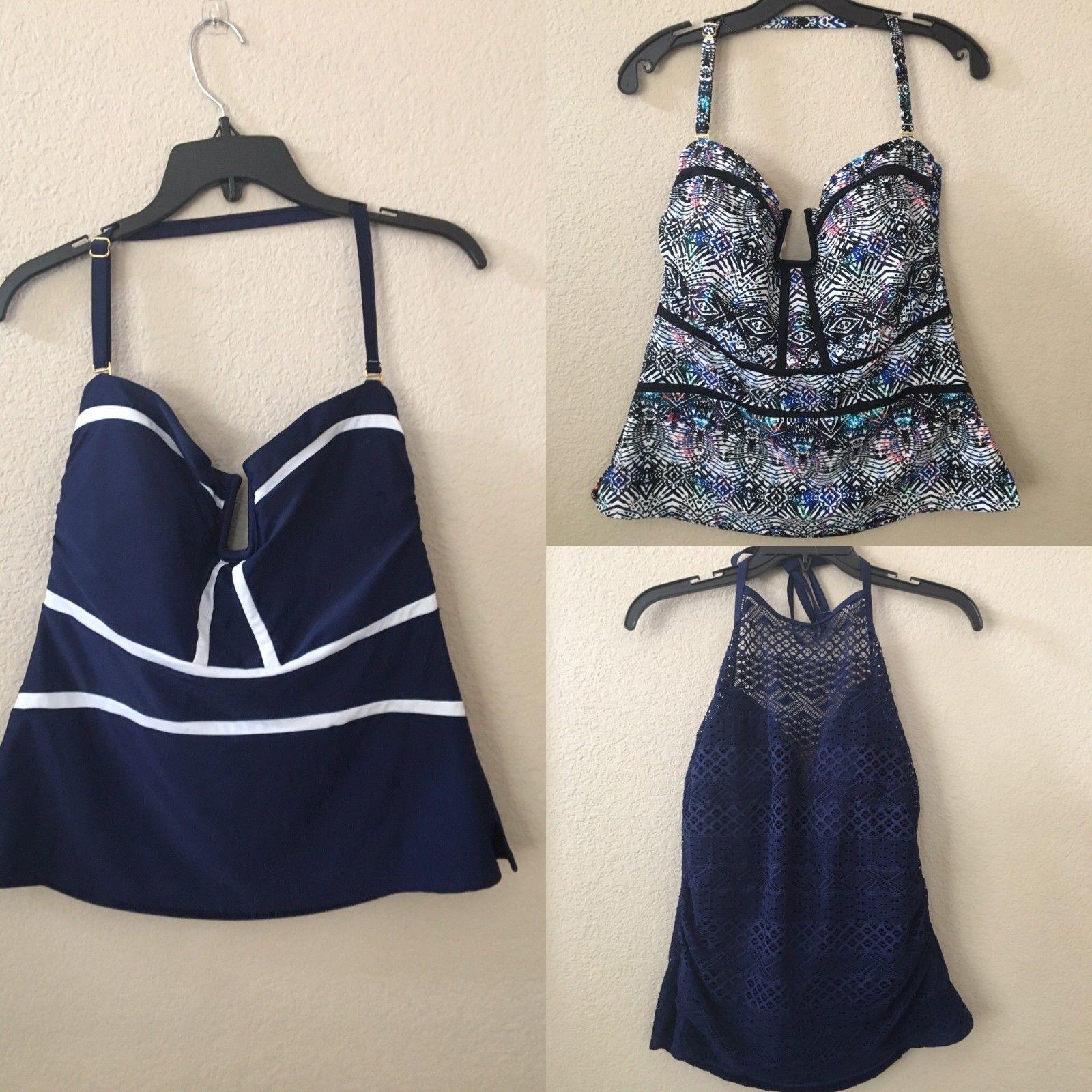 87d2d83a85dec 3 NWT Island Escape Crochet Tankini Swim Top and 27 similar items. S l1600