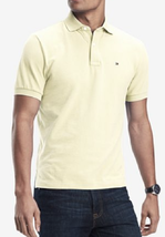 Tommy Hilfiger Men's Custom-Fit Ivy Polo, Size S, Light Yellow, MSRP $49 - $26.72