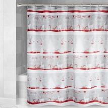 Winter Reindeer Fabric Shower Curtain Avanti Linens 72x72 Holiday Christmas - $32.55