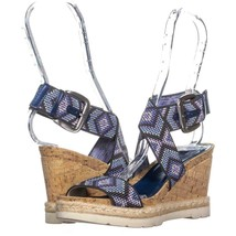 White Mountain Pearle Platform Wedges 860, Blue Multi, 6 US - $23.03
