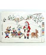 Vintage AMC Stickideen Embroidery Kit 62238 Christmas Wichtel & Nikolaus... - $49.99