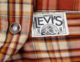 NEW NWT LEVI'S MEN'S LONG SLEEVE BUTTON UP CASUAL DRESS SHIRT ORANGE 3LYLW211 image 5