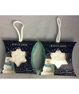 Lot of 2 Simple Pleasures Winter Snow Fresh Scented Snowflake Bar Soap o... - $19.99