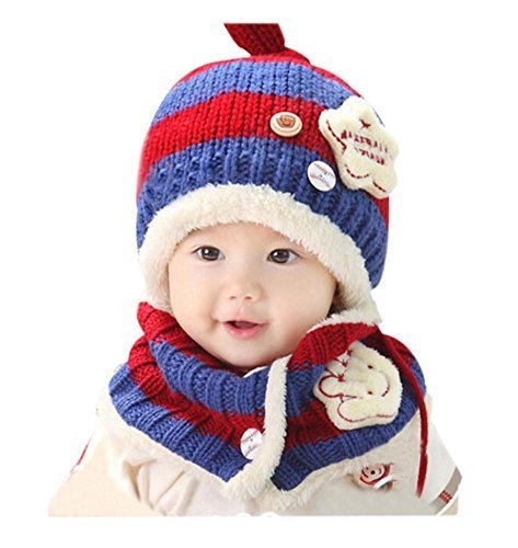 Baby Winter Hat&Scarf Warm and Lovely Baby Cap&Scarf, Style 5