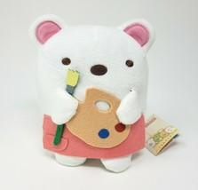 "6"" SAN-X Sumikko Gurashi White Bear Artist Paint Stuffed Animal Plush Toy W/ Tag - $36.47"