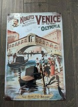 "18"" VENICE The Rialto Bridge 3d cutout retro USA STEEL plate display ad Sign - $68.60"