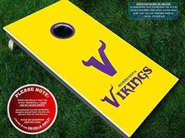 Vikings Cornhole Decals | COLOR CHOICE | Three (3) Vinyl Decals for DIY ... - $15.00