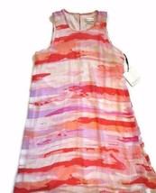 CALVIN KLEIN sleeveless DRESS pink purple Sheer SIZE 6 - $50.45