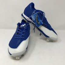 Adidas Mens PowerAlley 4 Metal Baseball Cleats Size 8 Royal Blue White - $37.86