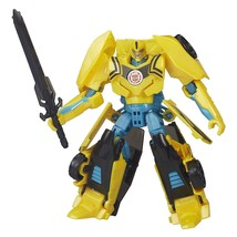 Transformers Warrior Class NIGHT STRIKE BUMBLEBEE Figure Robots in Disgu... - $37.61