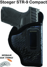IWB *Inside Waistband* Soft Leather Gun Holster -   Stoeger STR-9 Compact - $16.82