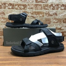 TIMBERLAND MEN'S GOVERNOR ISLAND STRAP BLACK SPORT A1QYZ SANDALS. Size:13M - $46.79
