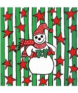 Laura Loving The Joyful Snowman Painted Ceramic Tile Brand New - $39.99