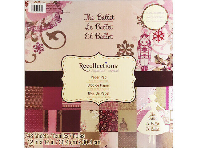 Recollections The Ballet 12x12 Cardstock Paper Pad #201030