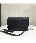 Tory Burch FLEMING DISTRESSED CONVERTIBLE SHOULDER BAG BLACK AUTHENTIC - $329.00