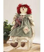 Primitive Decor 41564-Green Raggedy Girl Doll - $21.95