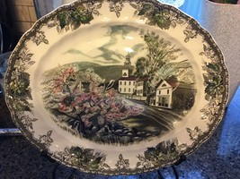"Johnson Brothers, The Friendly Village Oval Serving Platter 12"" Village Green - $19.75"