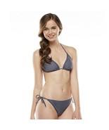 Candie's Junior Swimwear 2 Pcs Set Bikini Top Bottom Padded Gray - $14.99
