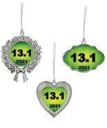 13.1 Half Marathon Running 2021 Christmas Ornament Gift Frame Heart or W... - $14.99