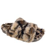 Secret Treasures Faux Fur Two Band Slide Slippers - $34.99