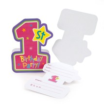 TWO PACKS Amscan Hugs & Stitches Girl Die-Cut Folded Invitations - 8 ct ... - €6,59 EUR