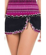 Profile by Gottex Women's Printed-Hem Ruffled Swim Skirt Black Size16 - $85.14