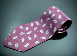 Giorgio Armani Cravatte 100% Silk Necktie Geometric Silver Men's Tie leaves - $21.29