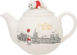 Disney Winnie the Pooh  Christopher Robin Teapot Cafe Pot white 565ml - $116.16 CAD
