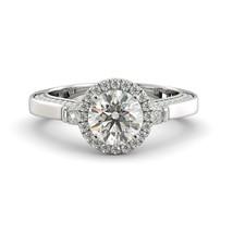 Ring Engagement Forever One Moissanite Round & Diamond 18k White Gold 1.95 tcw - $1,949.00