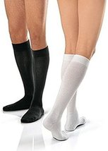 JOBST Activewear Compression Socks, 15-20 mmHg, Knee High, Medium, White - $38.32