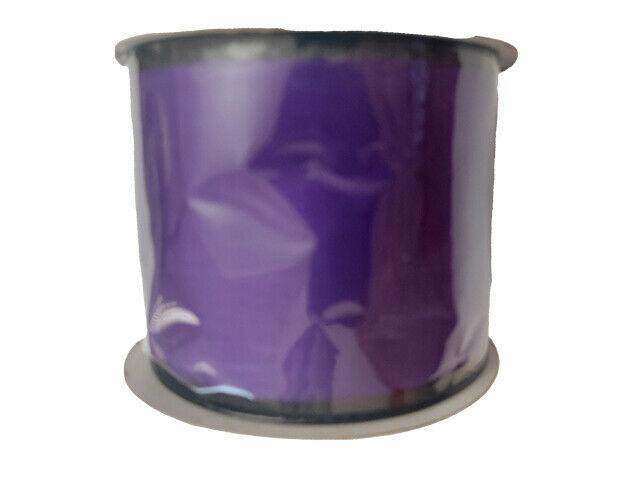 "Momentum Halloween 2.5"" Wire Ribbon, 3 Feet, Purple & Black"