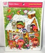 Vintage 1974 Whitman SANTA'S HOUSE and Elves Elf Giordano Frame Tray Puzzle 4505 - $19.99
