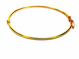 Armband Gelbgold 18kt 750/1000 Starr Gespannt Canna mm2 Frauen - $423.77