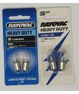 4 bulbs - RAYOVAC Replacement Bubs PR3 PR3-2 3D Size - $3.95